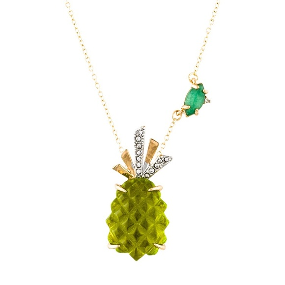 Alexis Bittar Pineapple Pendant Necklace Pineapple